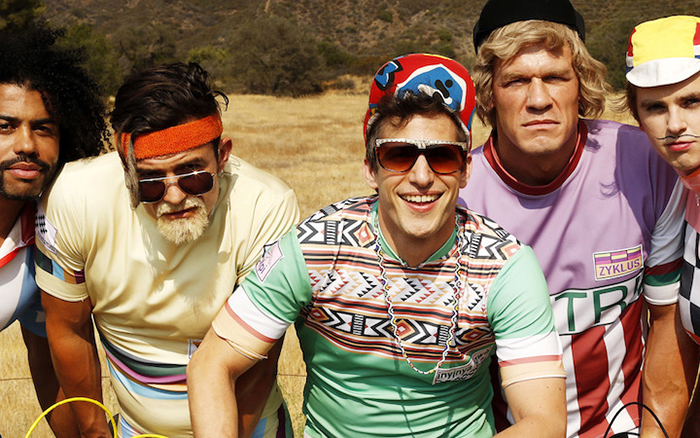 Andy Samberg with an all-star cast in Tour de Pharmacy, a mokumentary on HBO