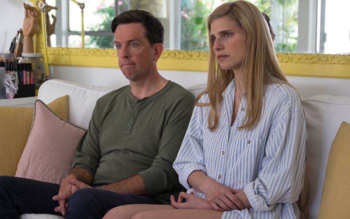 Ed Helms and Lake Bell in their new movie, I do...Until I don't