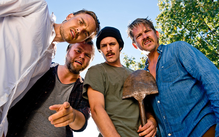 Joey Kern, Tyler Labine, Adam Brody and Zachary Knighton