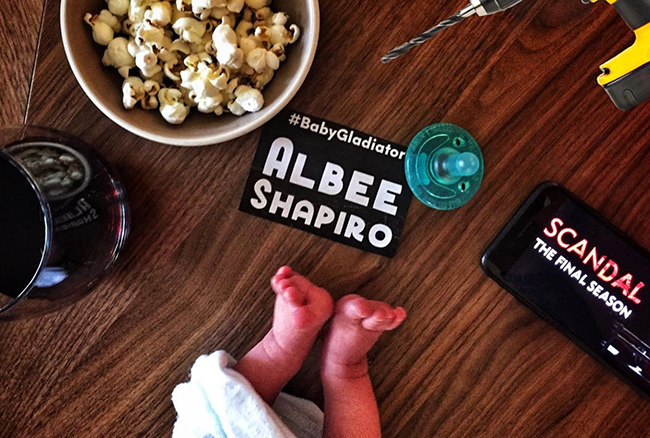 Katie Lowes and Adam Shapiro welcome their new baby Albee