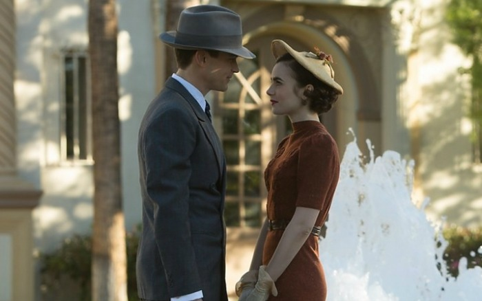 Matt Bomer with Lilly Collins in The Last Tycoon