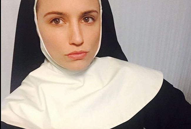 Dianna Agron plays a nun in her new movie