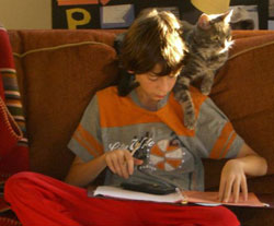 Harrison Friedes and his cat