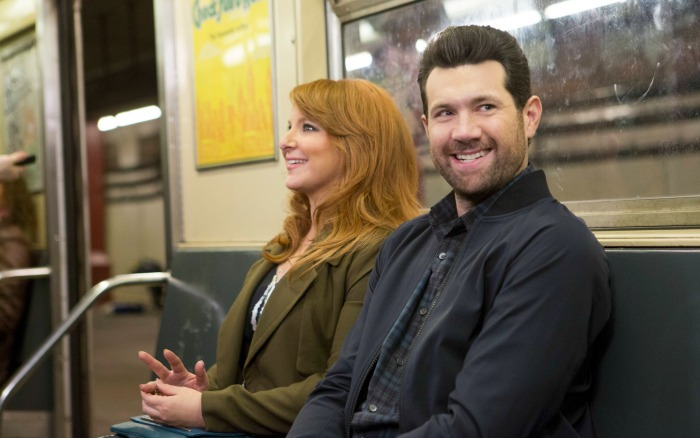 Julie Klausner and Billy Eichner in Difficult People