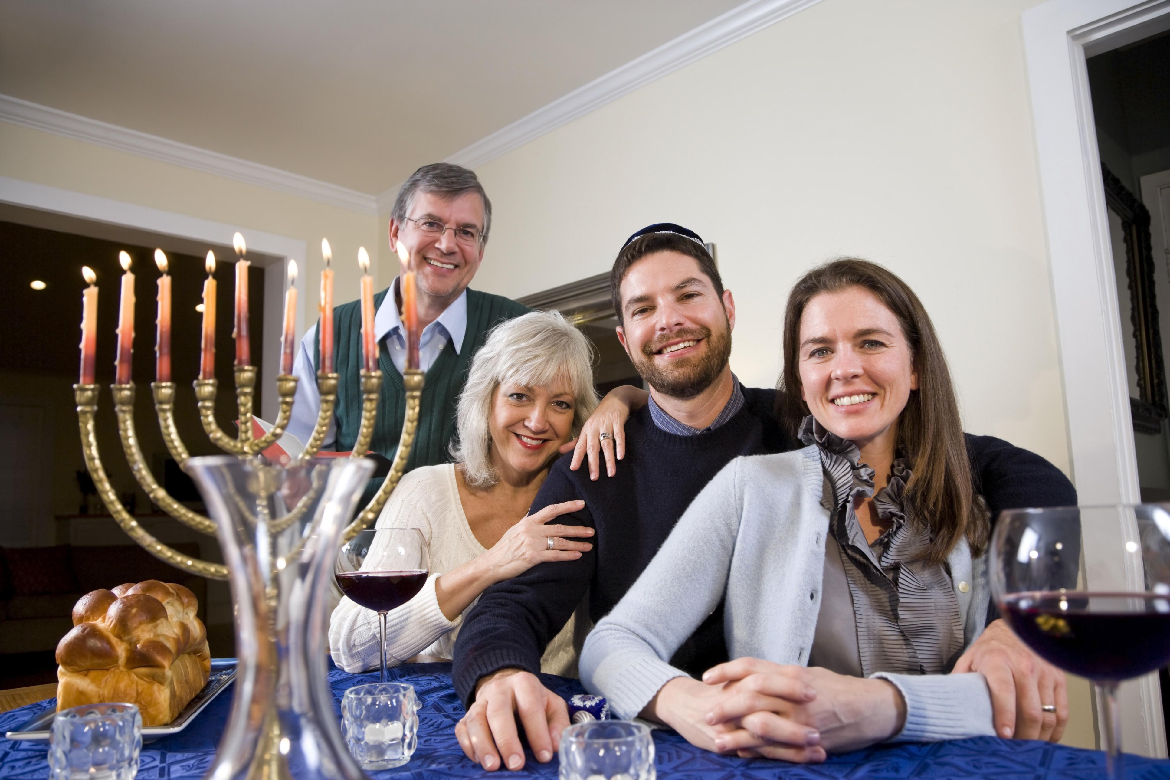 Family celebrating