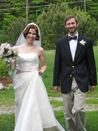 Amy Elkes' wedding