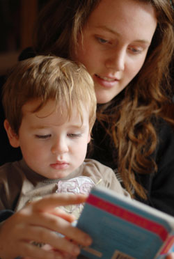 bedtime story stock image