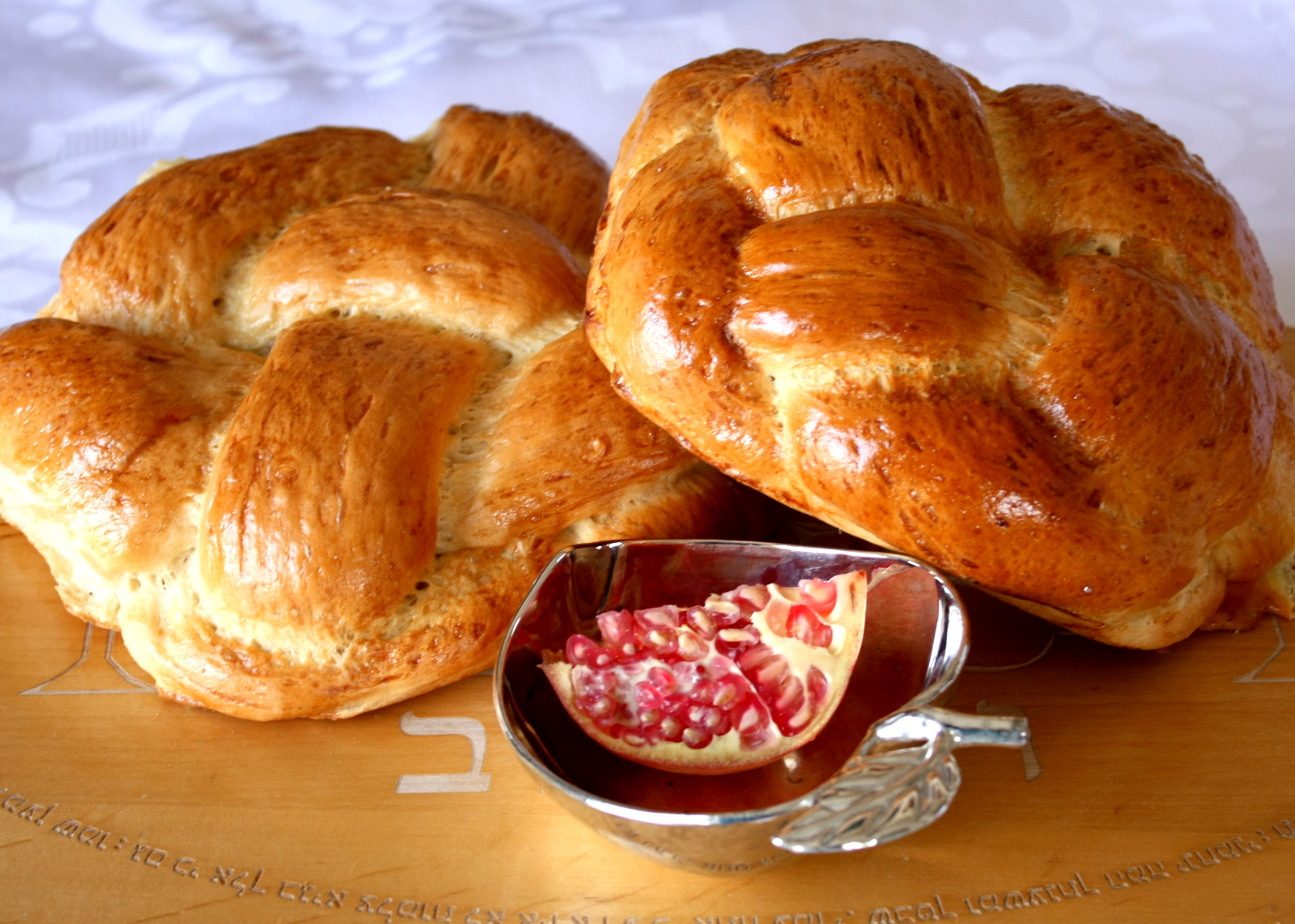 High Holy Days Food Roung Challah