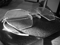 Grandmother's eyeglasses photograph by Earl Gray
