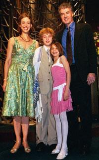 Brian, Jayne, Daniel and Liana Hickey at Daniel's Bar Mitzvah