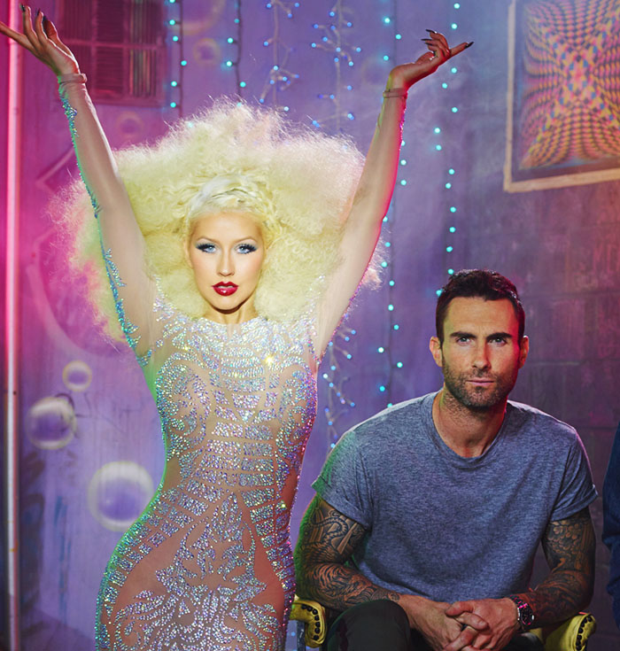 Christina Aguilera and Adam Levine