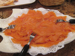 big plate of lox