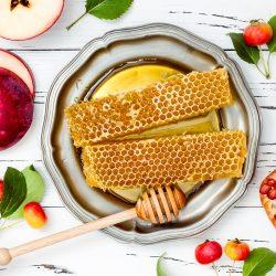 Rosh Hashanah Honey Combs and Pomegranate