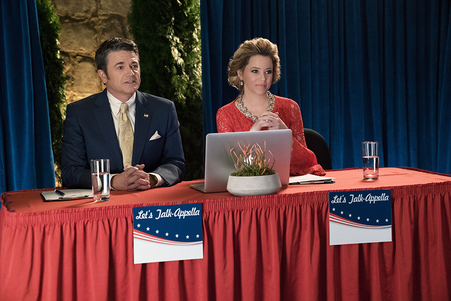 Pitch Perfect III with John Michael Higgins and Elizabeth Banks