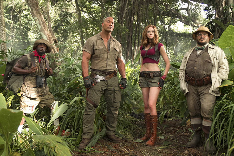Hart, Johnson, Gillan, Black in Jumanji