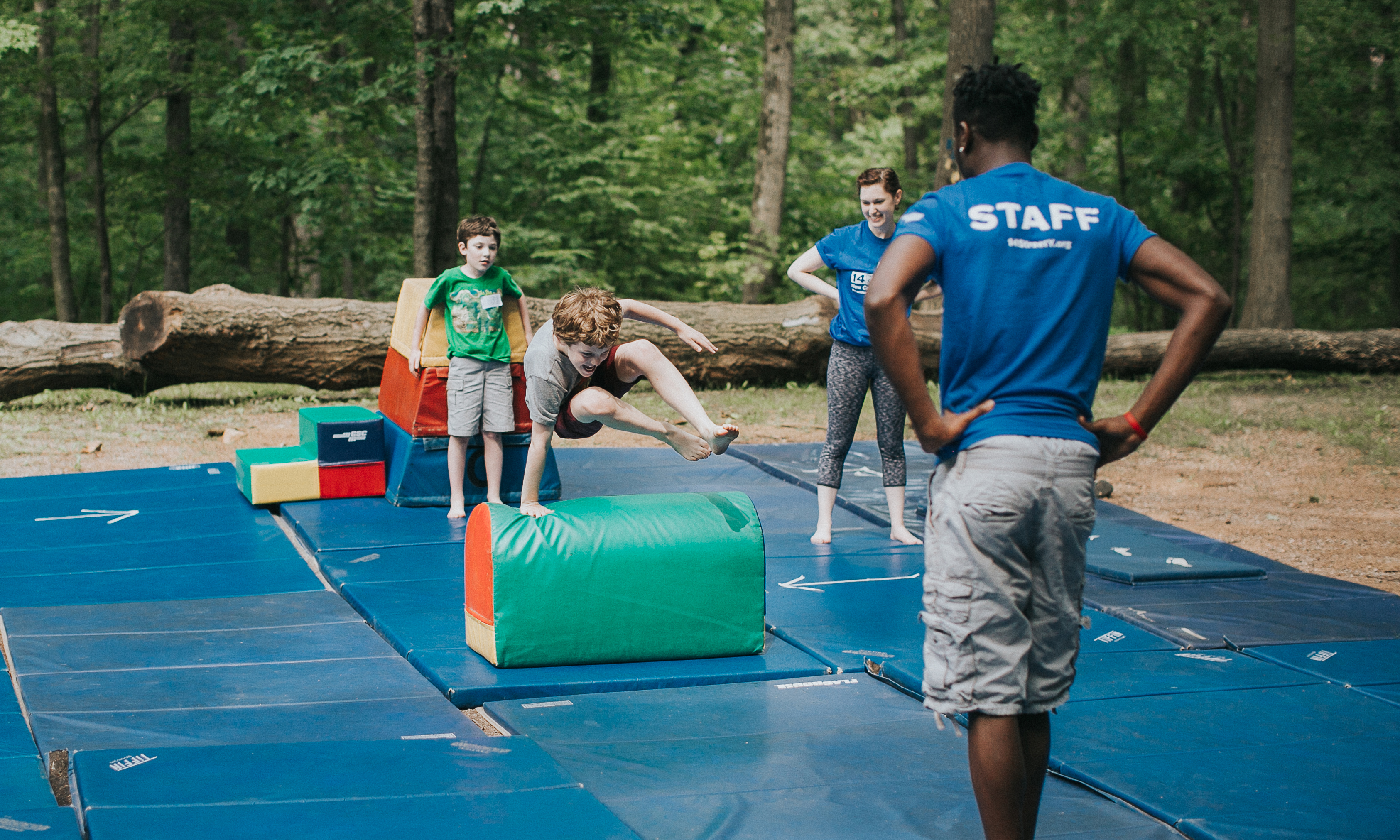 Gymnastics at camp