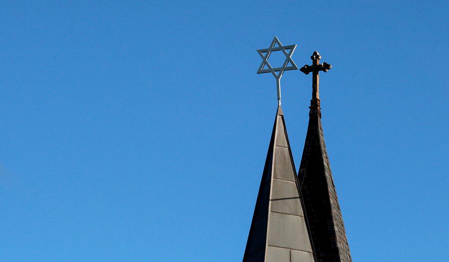 Cross and Star of David
