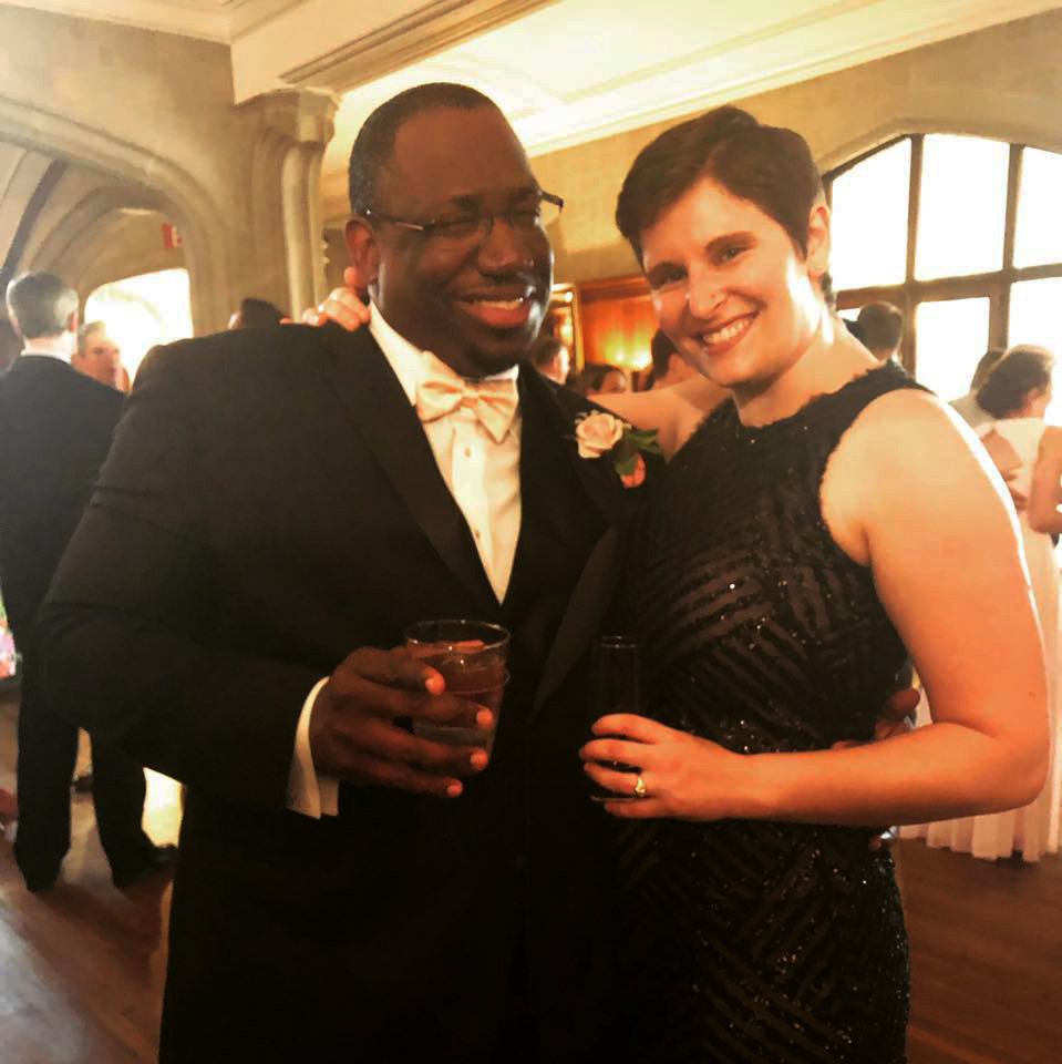 Becky & Femi at a wedding