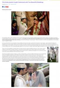 Hindu Jewish wedding story