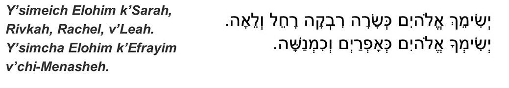 Children's blessing for Shabbat