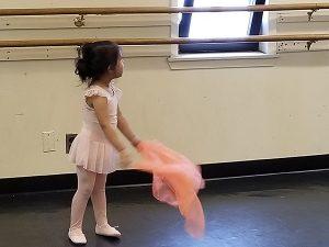 Helen at ballet class