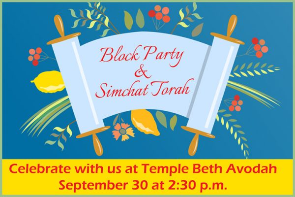 Block party simchat torah celebration interfaithfamily 230 pm we will have snacks activities and promise a great time for all ages after the block party we will have a festive simchat torah celebration m4hsunfo