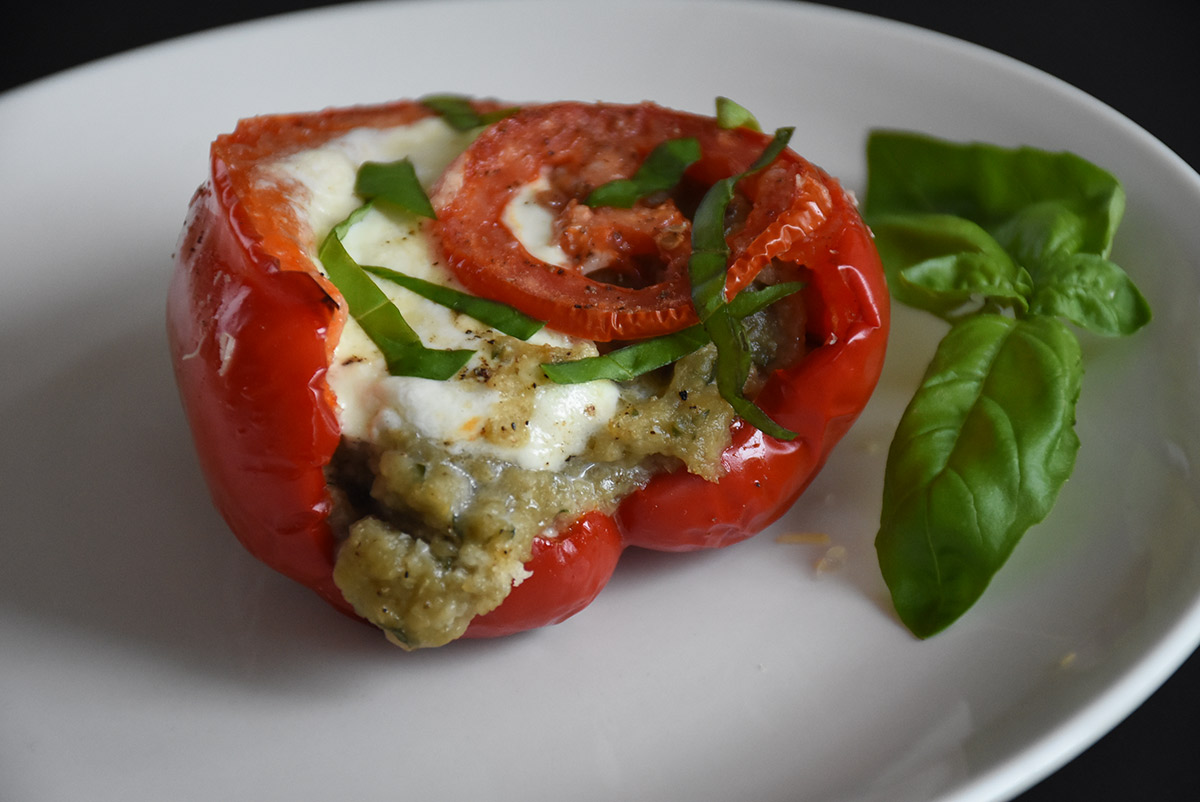 Roasted stuffed pepper