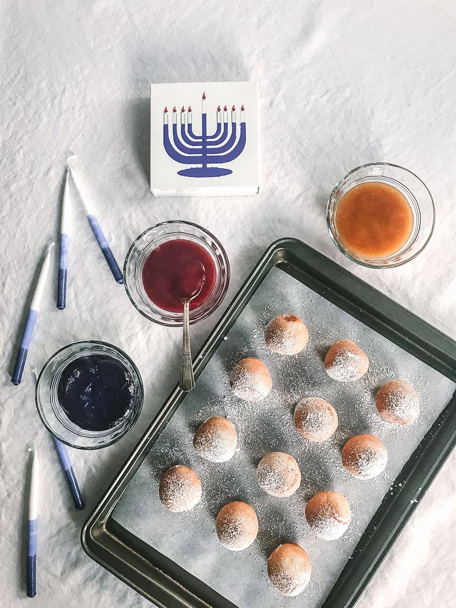Mochi doughnuts and jam