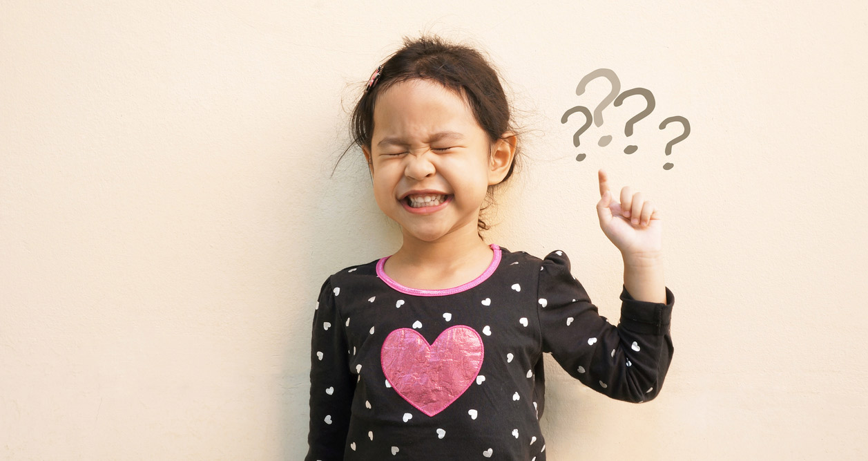 Child with question marks