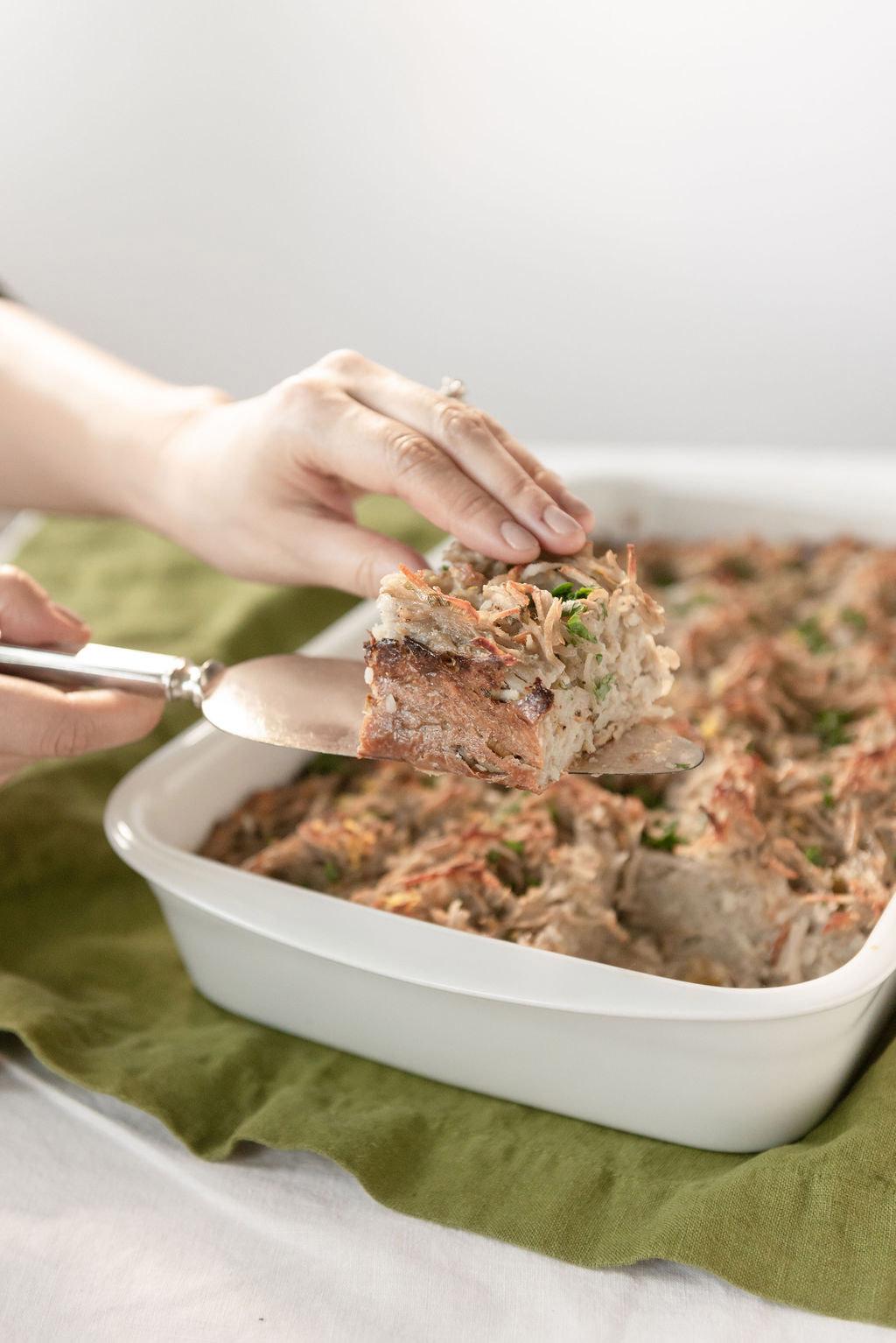 Potato kugel for Passover