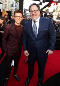 Tom Holland and Jon Favreau